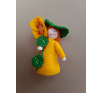 Seasonal doll Lady`s-slipper